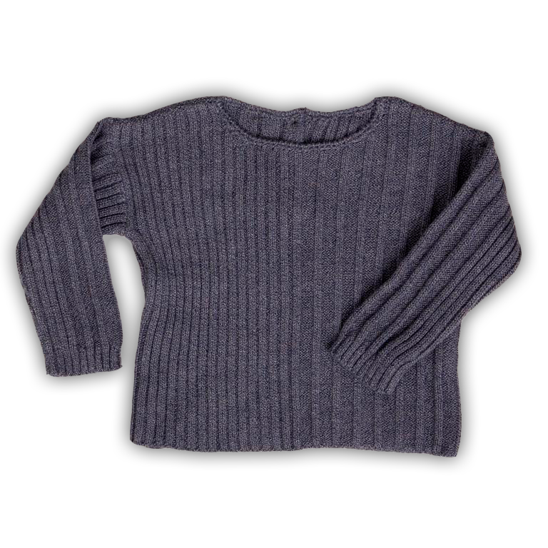 Tun Tun Ribbed Sweater Blue