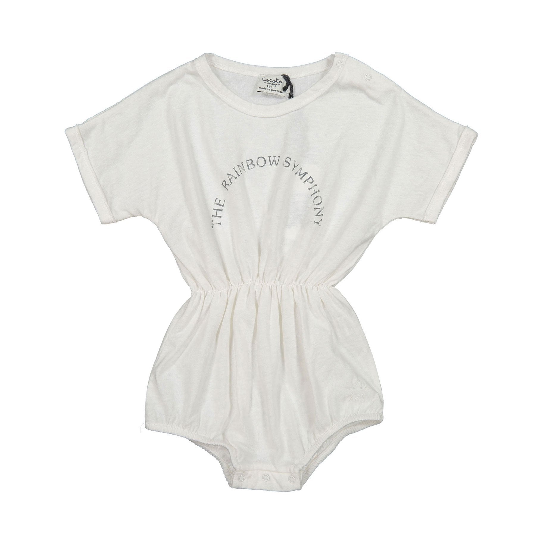 Tocoto Vintage Rainbow Romper - Off White