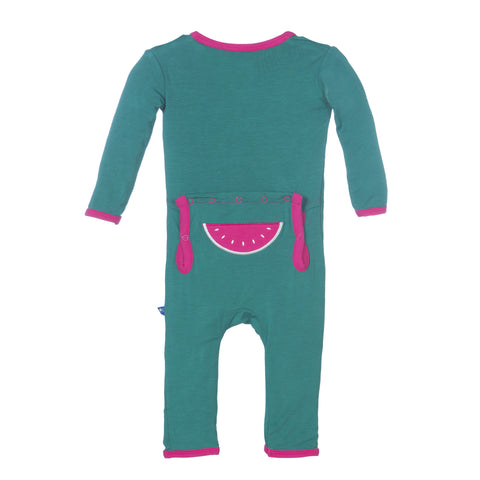 Kickee Pants Watermelon Applique Coverall