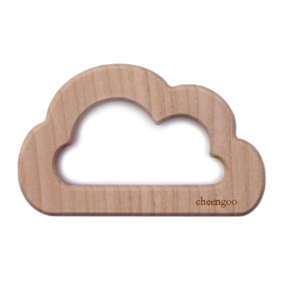 Cheengoo Natural Wooden Teether - Cloud