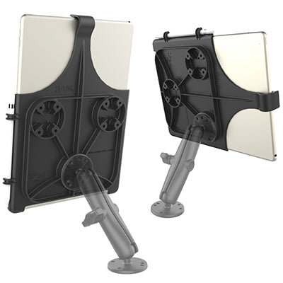 iPad in the RAM® Mounts EZ-Roll'r™ cradle