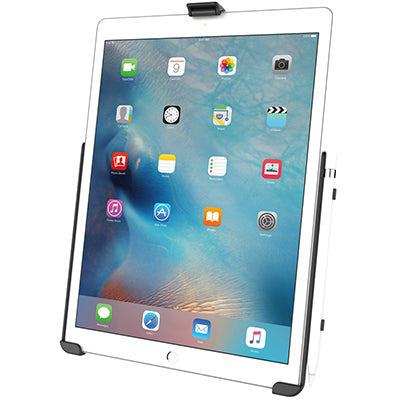 iPad in a RAM® Mounts EZ-Roll'r™ cradle