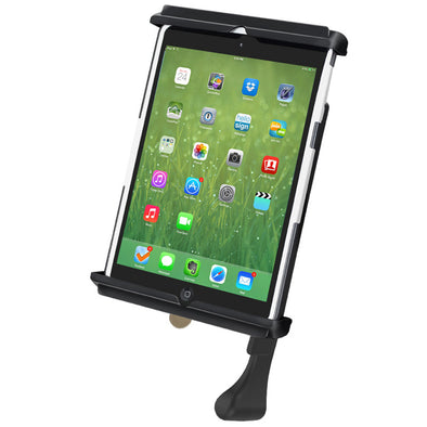 Quick Release Cradle, Tab-Lock, iPad mini 1-3 in Most Cases