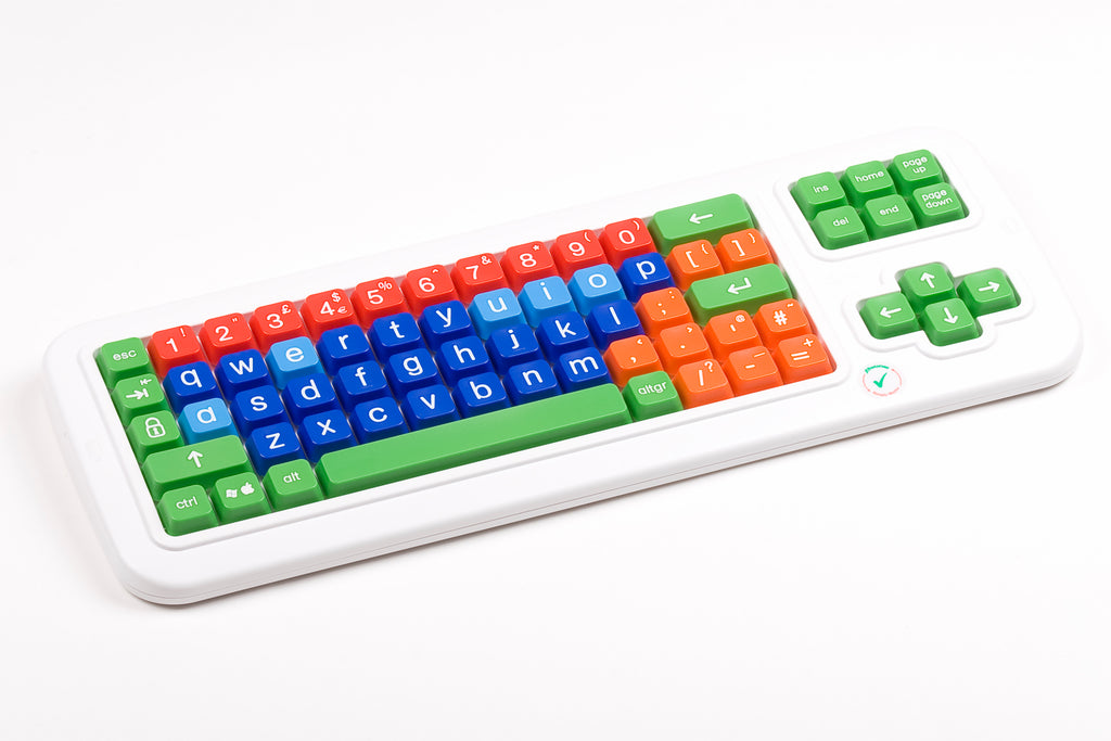 Computer Keyboard with different color keys