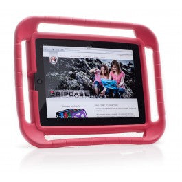 iPad in a red grip case