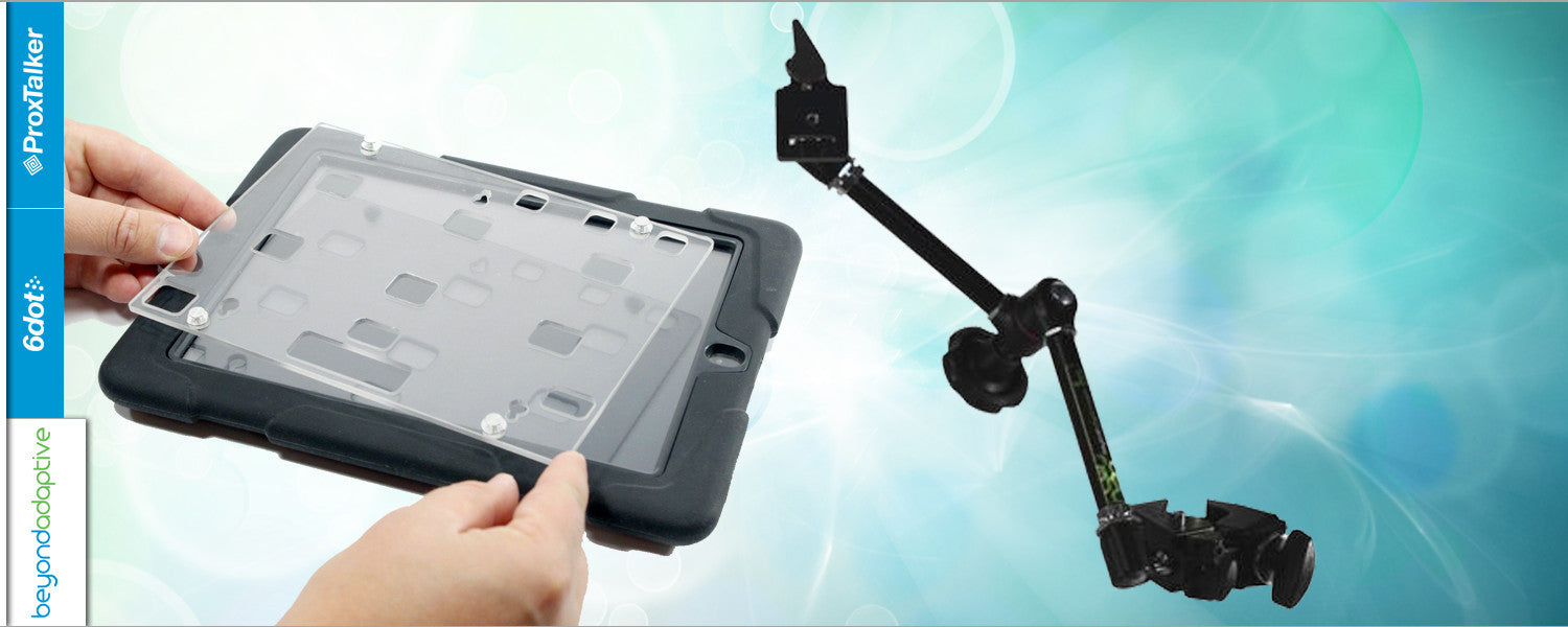 Mounting Arm and keyguard for iPad