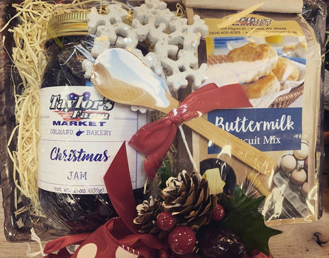 Biscuits & Christmas Jam Gift Basket