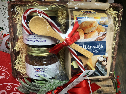 Biscuits & Mini Jams Gift Basket