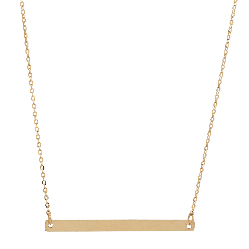 SALE - Long Thin Bar Necklace
