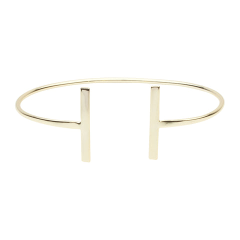 SALE - Large Double Bar Cuff