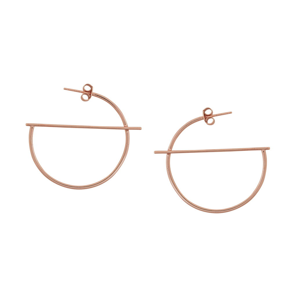 SALE - G-Shape Hoop with Post Earring