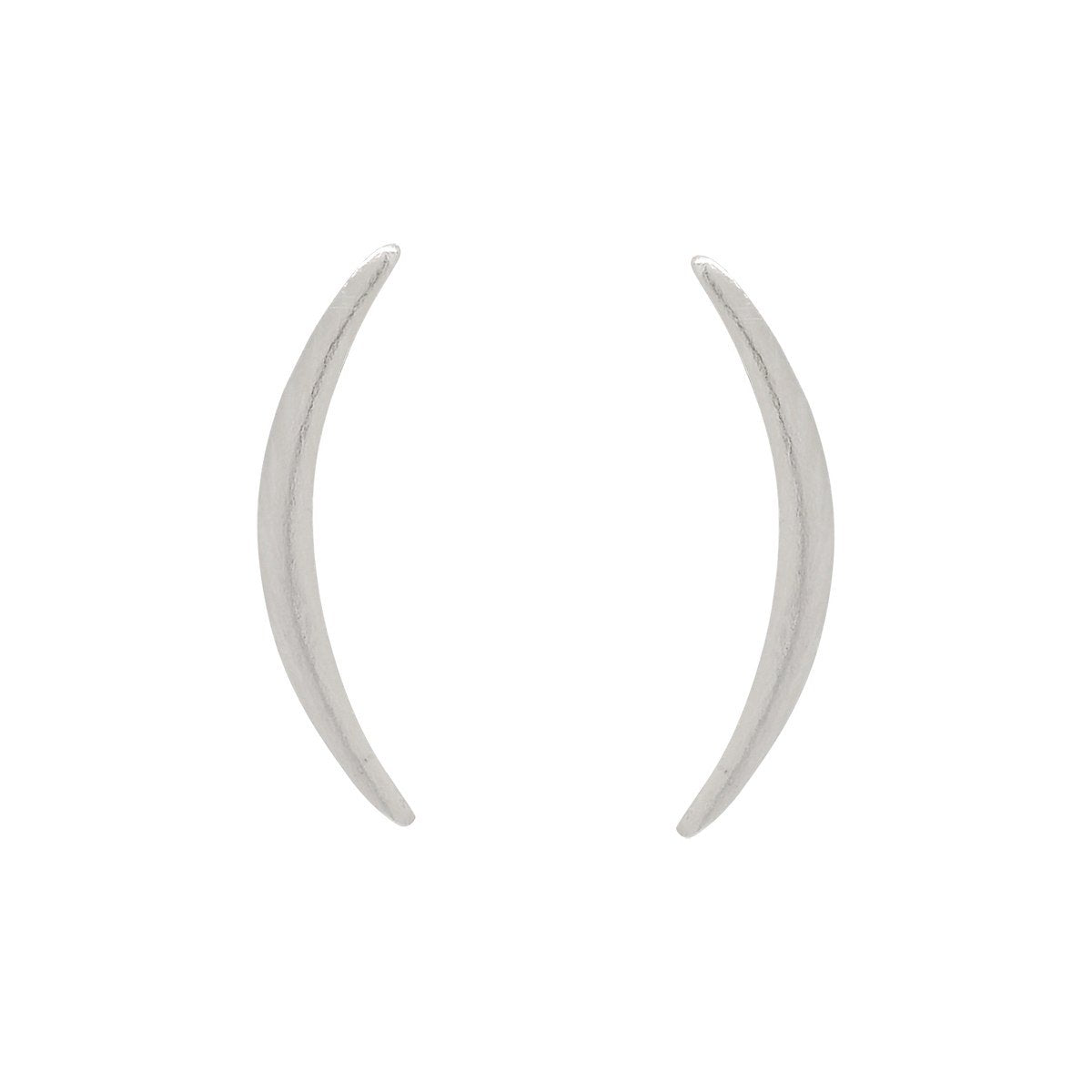 Thin Curved Crescent Moon Studs