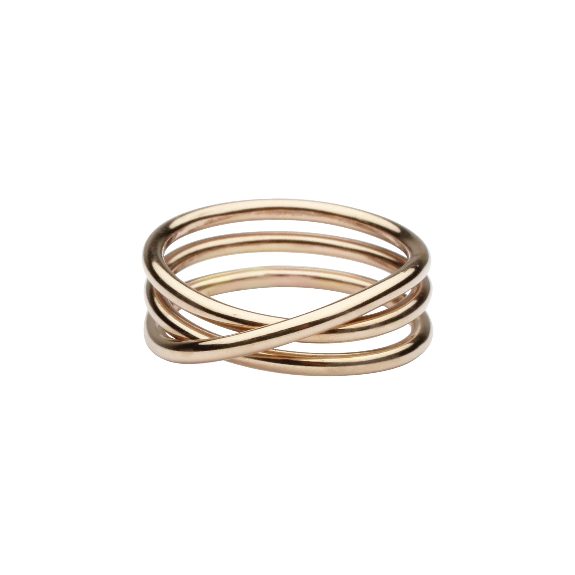 Triple Swirl Band Ring