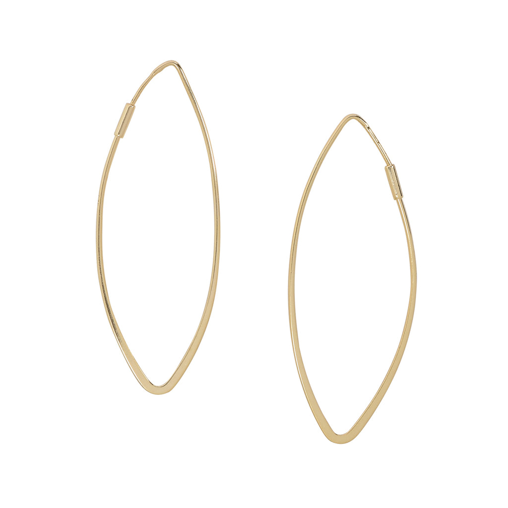 Marquise Hoop Earrings