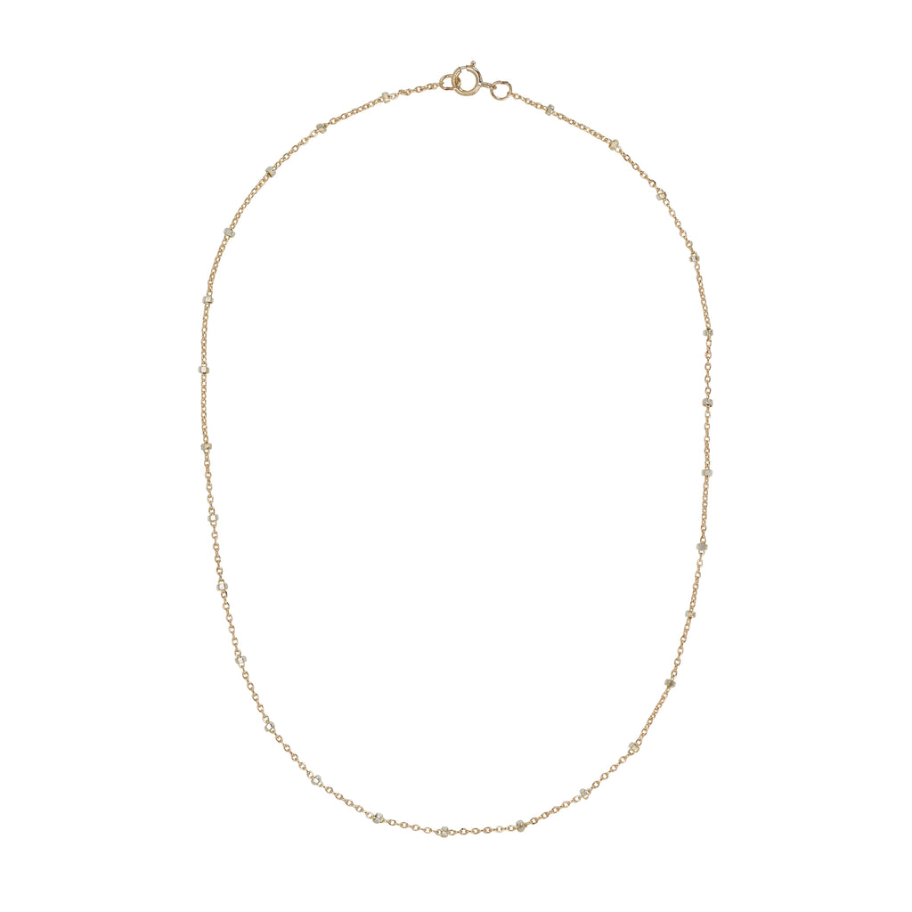 2-Tone Ball Chain Long Necklace