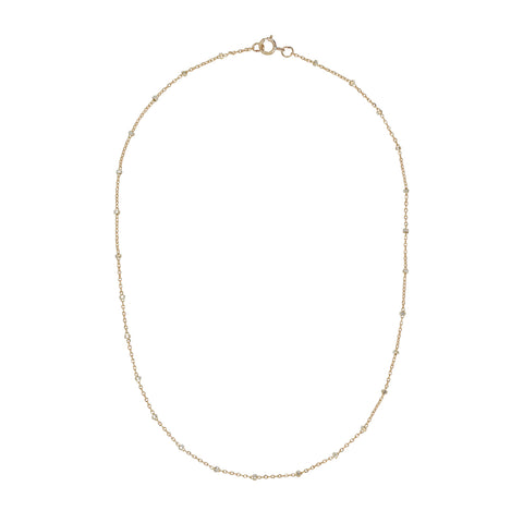2-Tone Ball Chain Choker Necklace