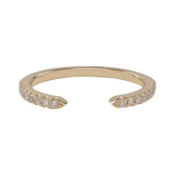 Diamonds Pave Cuff Ring