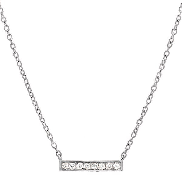 Diamonds Tiny Bar Necklace