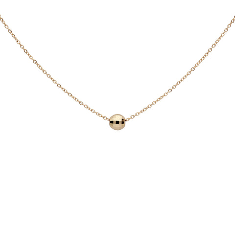 SALE - Solid Gold Faceted Mirror Ball Necklace