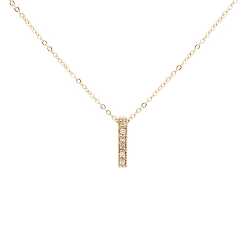 CZ Medium Bar Necklace