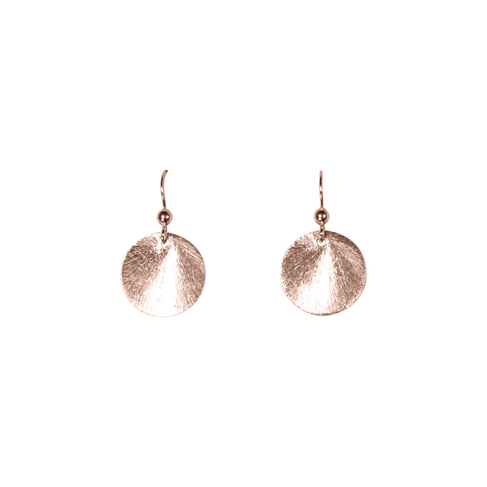 SALE - Brushed Disc Earrings