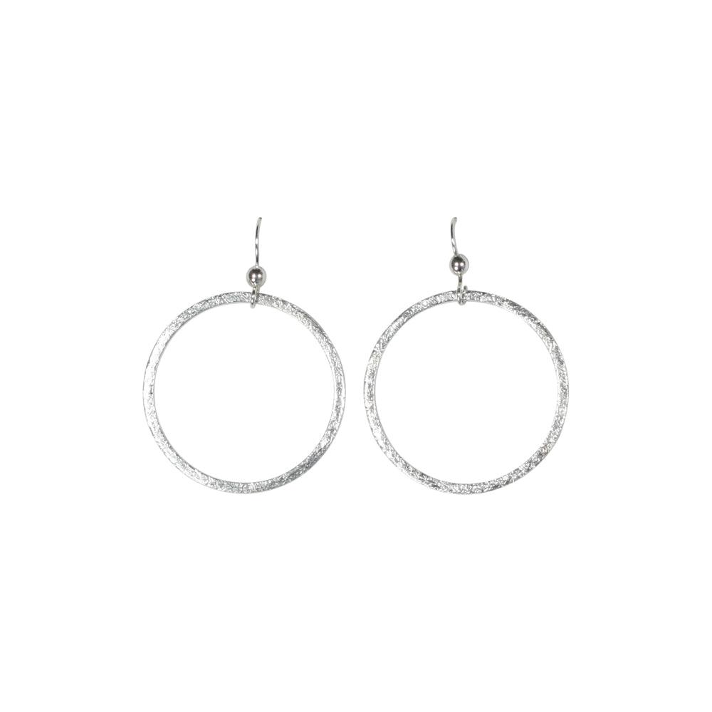 SALE - Brushed Hoop Earring