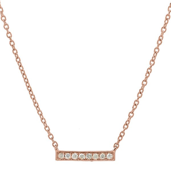Diamonds Bar Necklace
