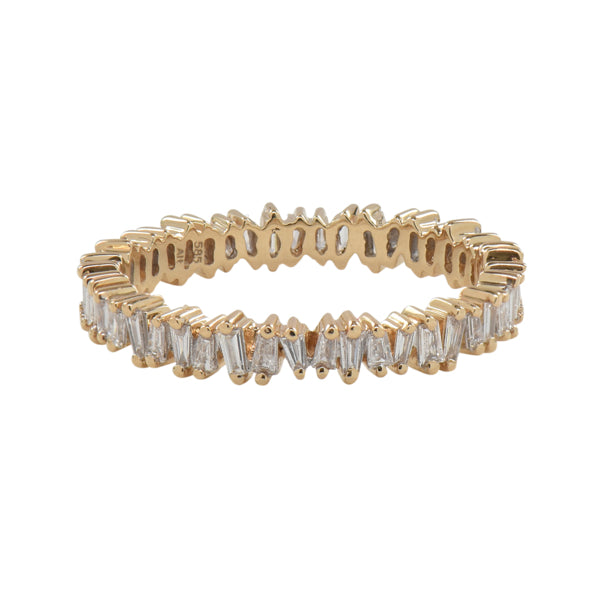 Uneven Baguette Eternity Diamond Band Ring