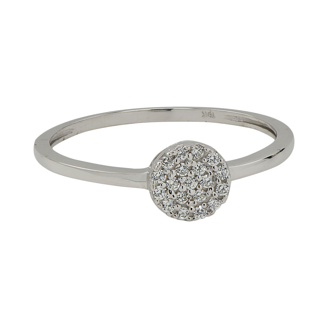 10k Solid Gold CZ Circle Ring