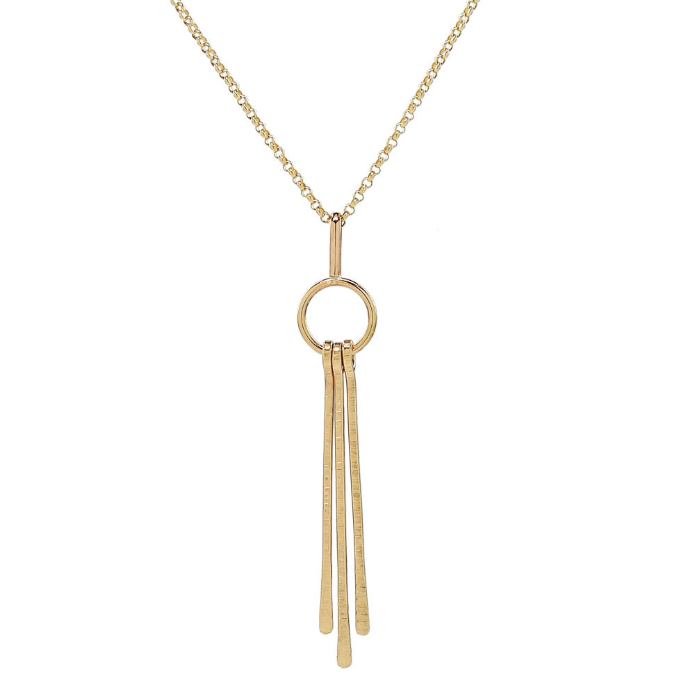 Triple Fringe Long Necklace