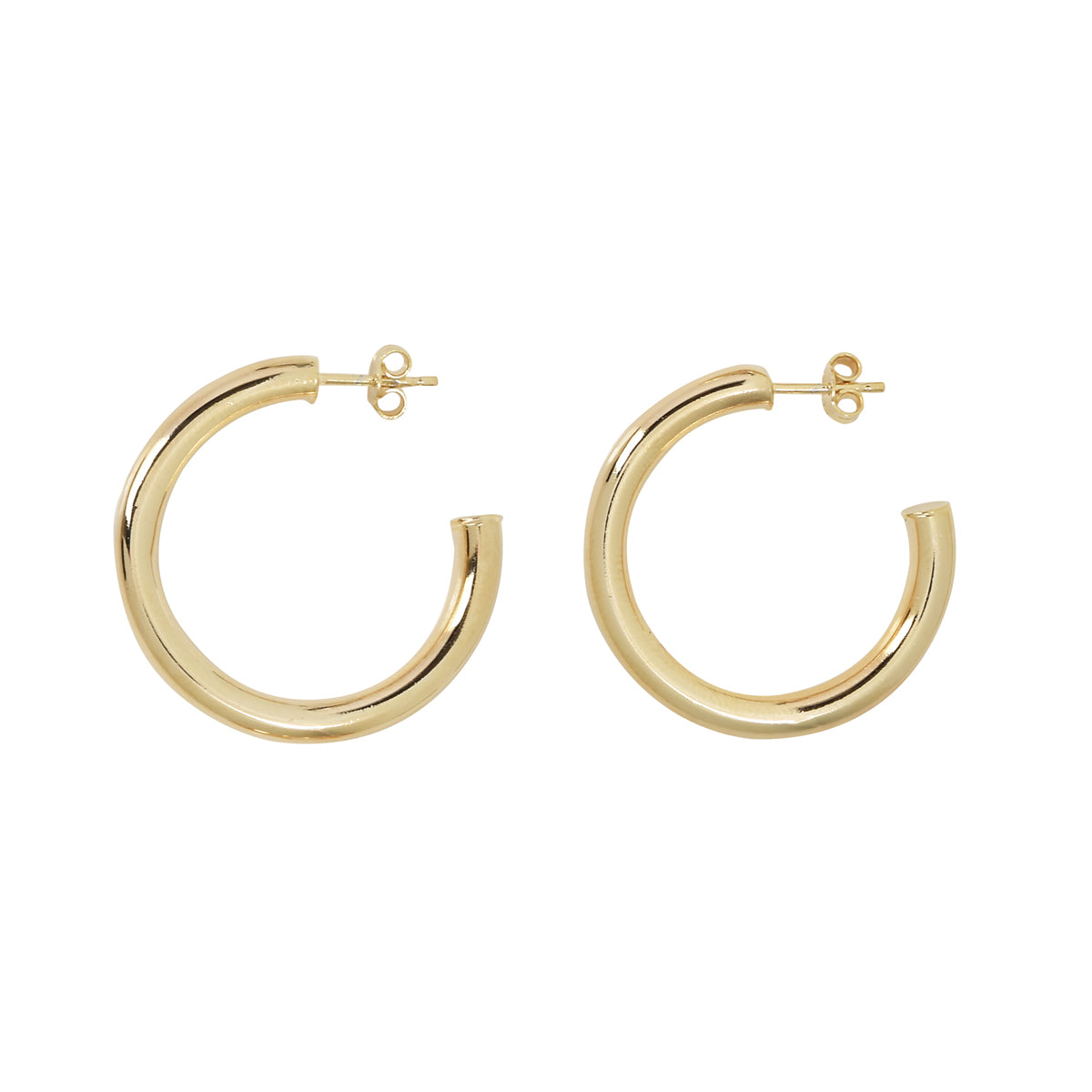 Thick Vermeil Hoops