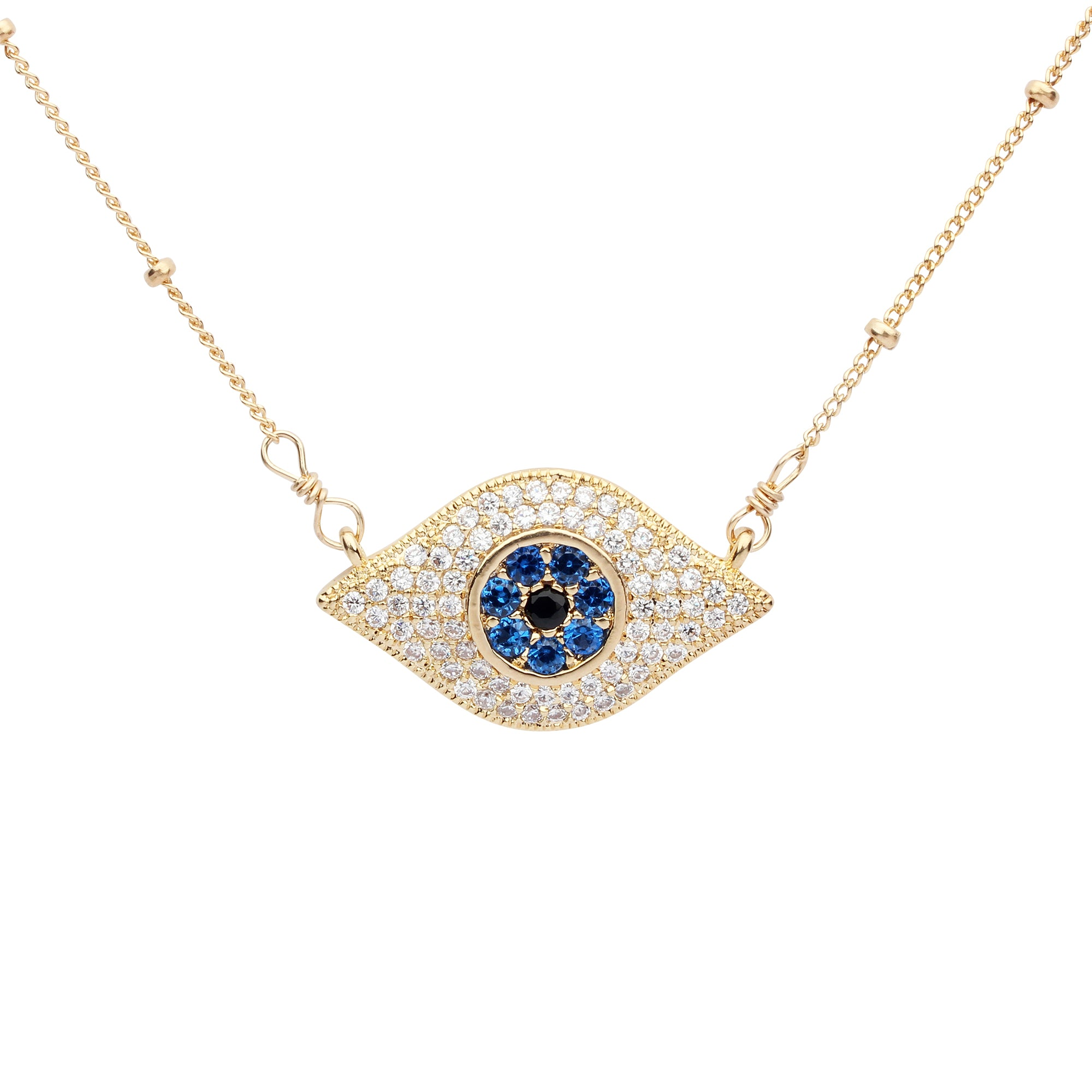diamond evil gold necklace pretty disc pave eye ksvhs small reese witherspoon jewellery