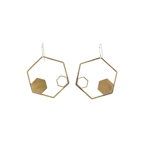 Hexagon Duo Earrings