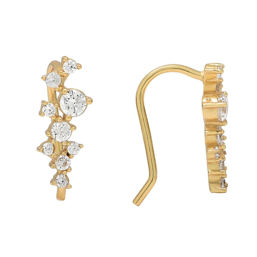 Gold Multi Stone Ear Crawler