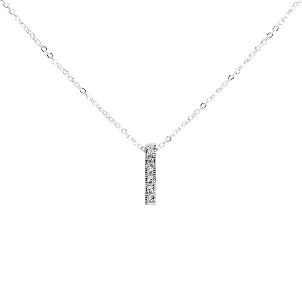 SALE - CZ Medium Bar Necklace
