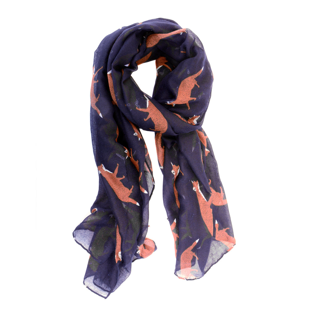Navy Fox Trot Scarf