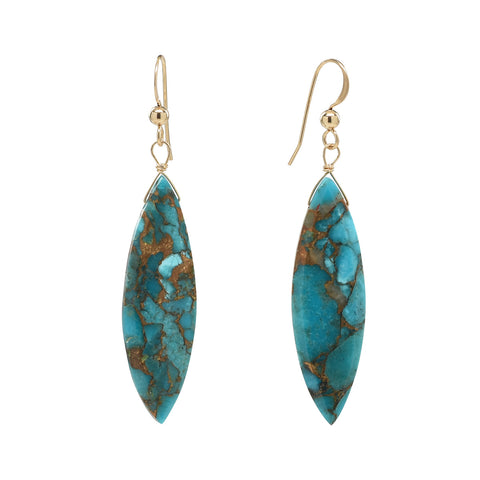 Mojave Turquoise Marquis Earrings
