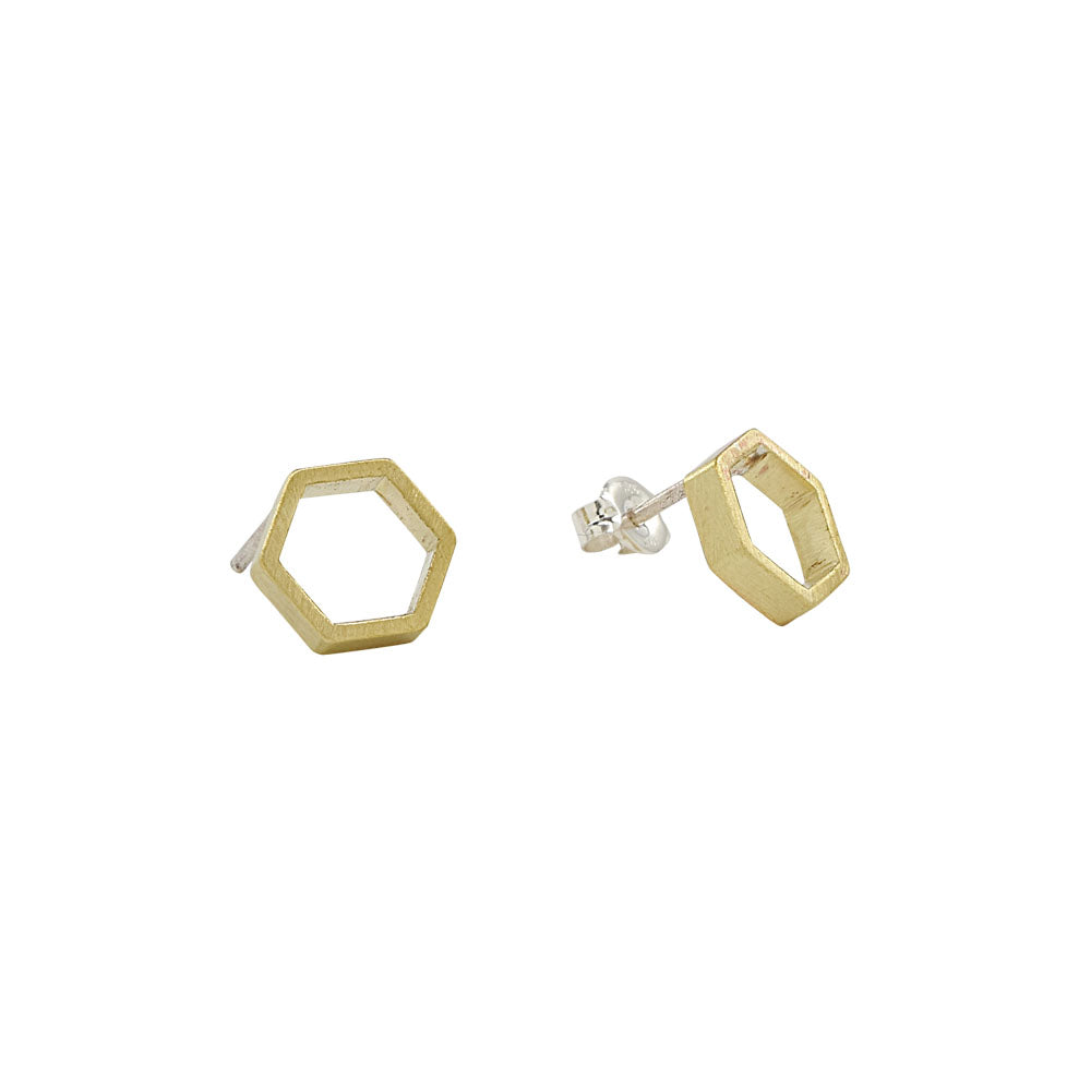 Hexagon Outline Studs