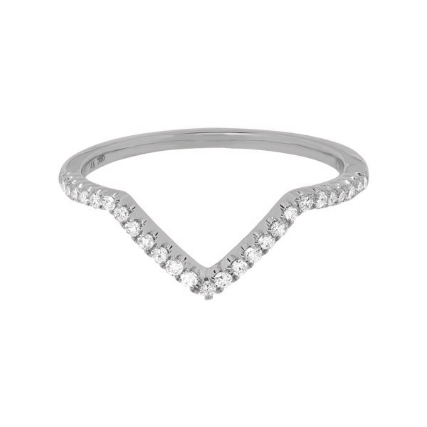 Diamonds Chevron Ring