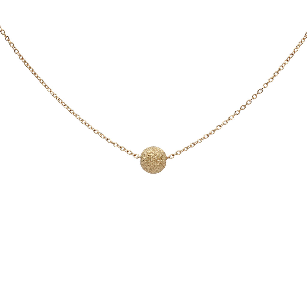 Solid Gold Single Stardust Necklace