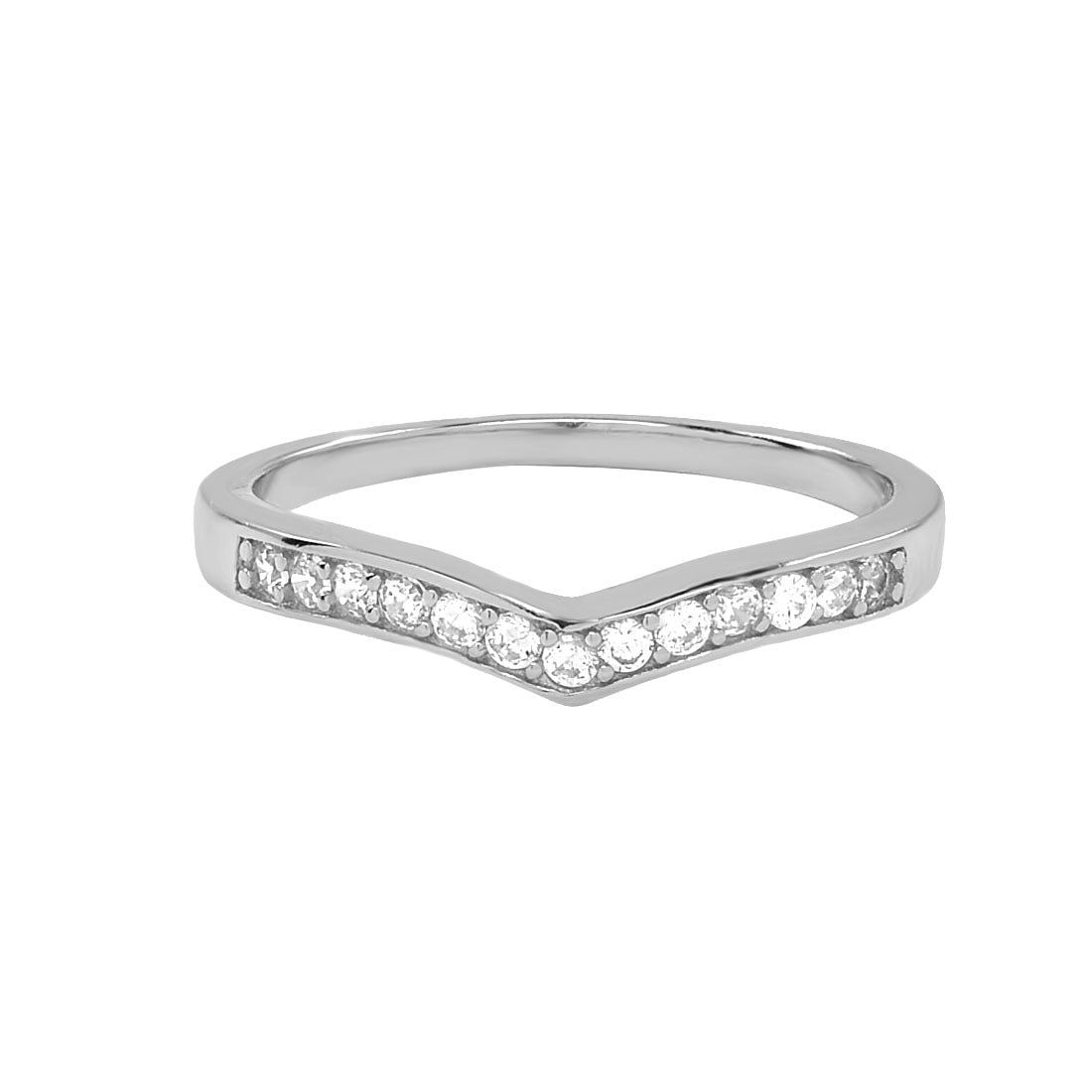 SALE - Thick CZ Chevron Ring