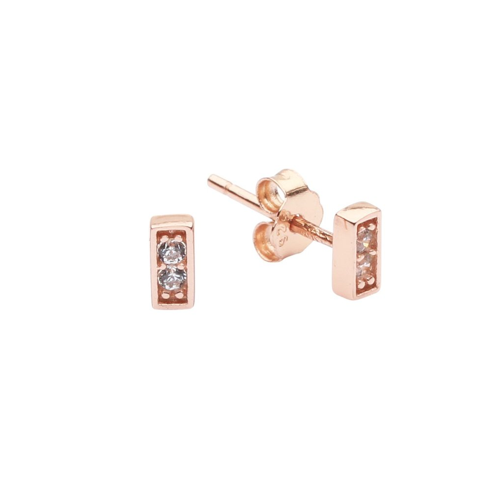 CZ Tiny Bar Studs