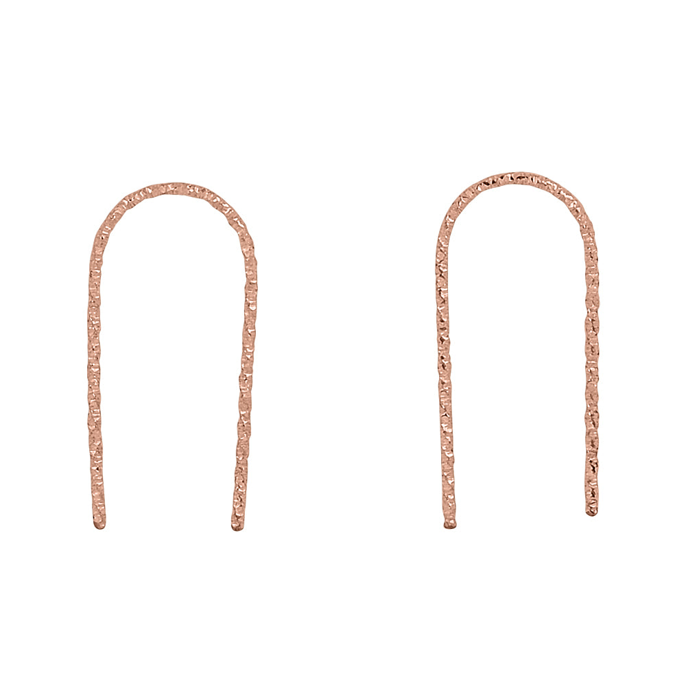 Diamond Cut Arc Earrings
