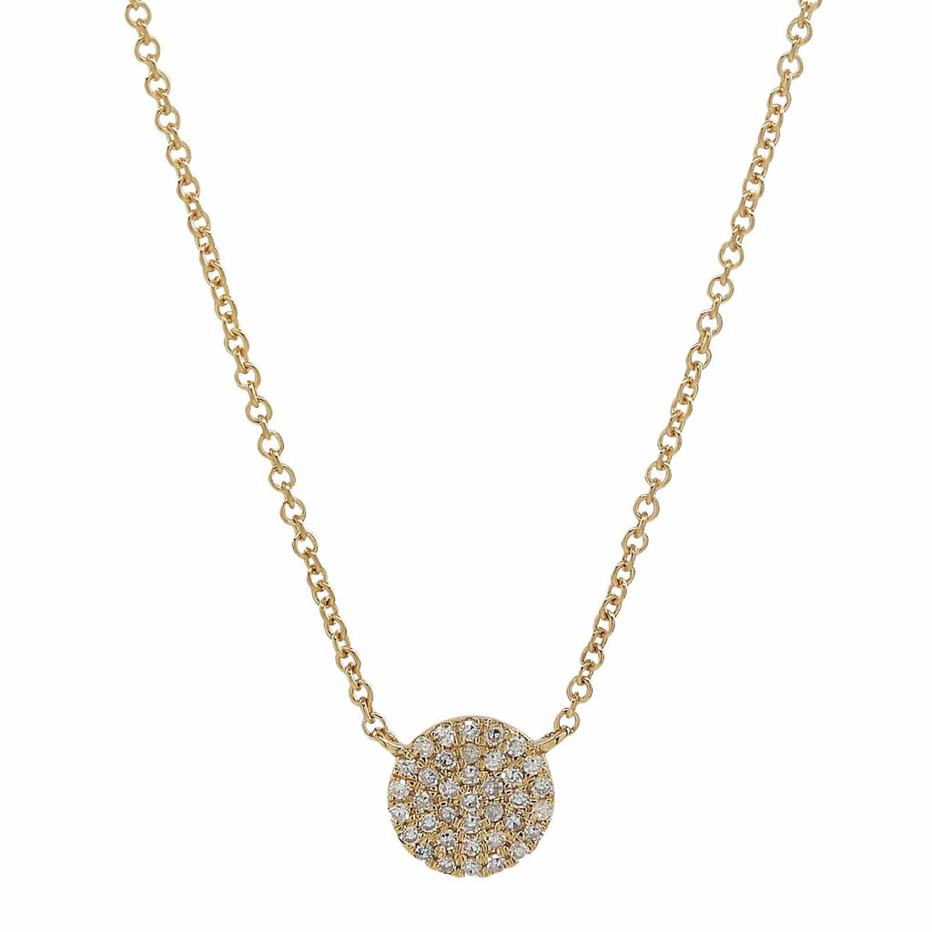 Pave Diamond Circle Necklace