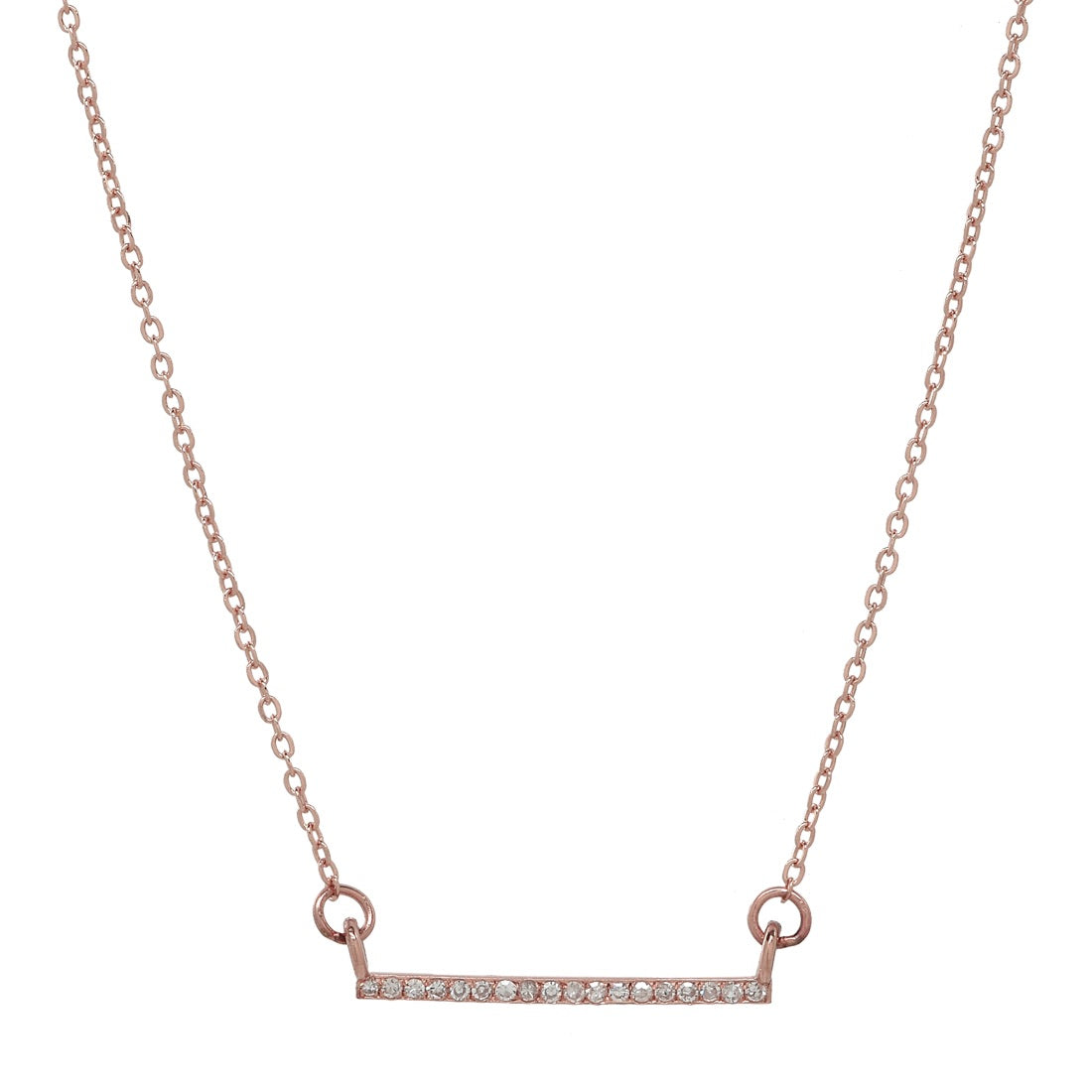 Thin Diamond Bar Necklace
