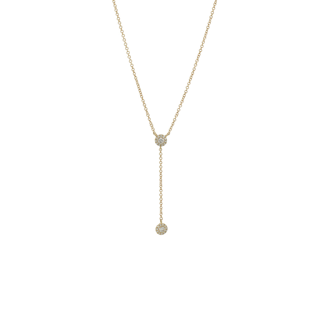 Diamond Y Drop Necklace