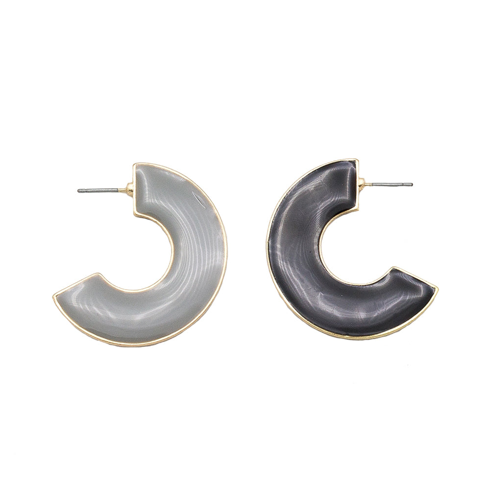 SALE - Enamel Reversible Hoops (more colors)