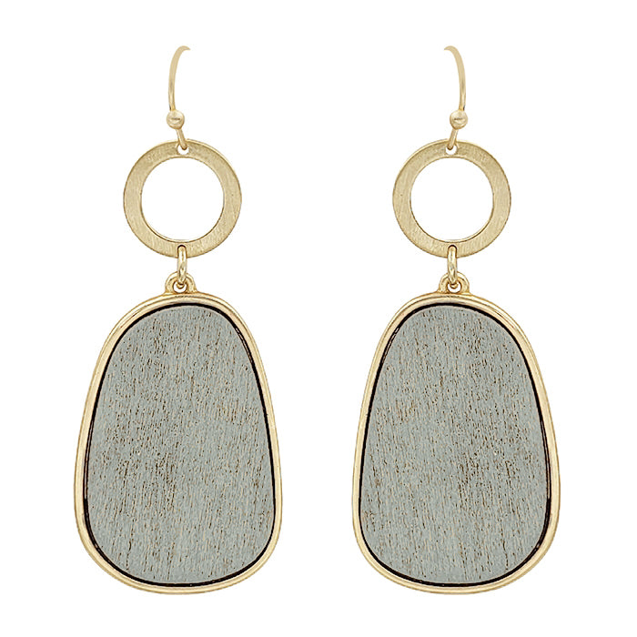 Wood Oval Earrings (more colors)
