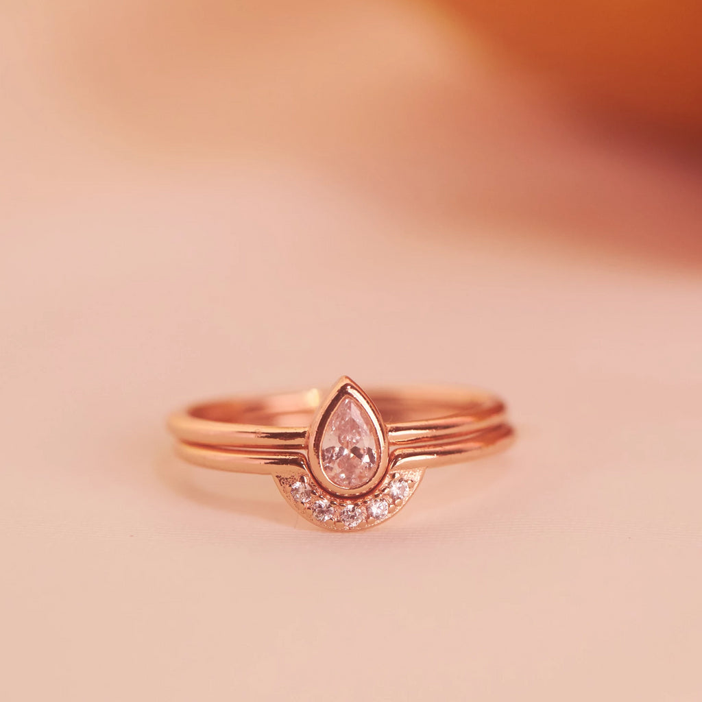SALE - Teardrop CZ Ring