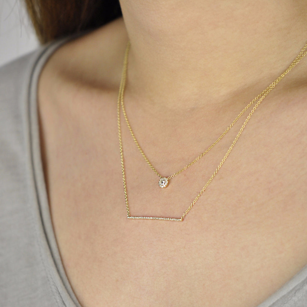 Diamonds Pave Pendant Necklace